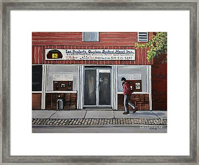 Les Produits Quebec Smoked Meat Inc Framed Print by Reb Frost