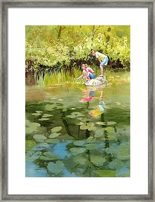 Lessons Of The Lake Framed Print by Kris Parins