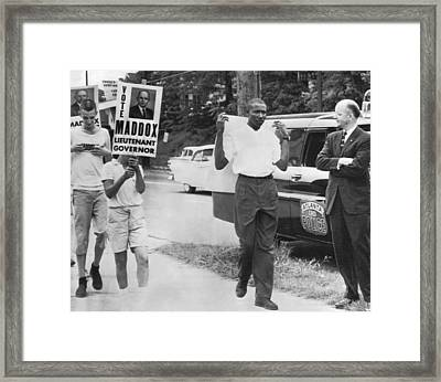 Lester Maddox Picketed Framed Print by Underwood Archives