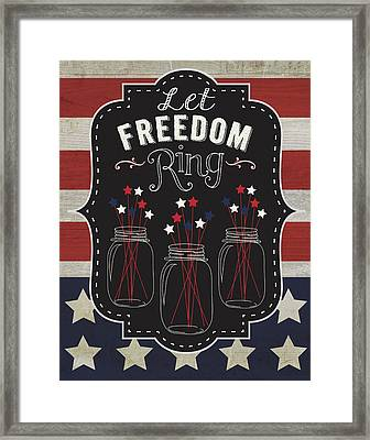 Let Freedom Framed Print by Tammy Apple