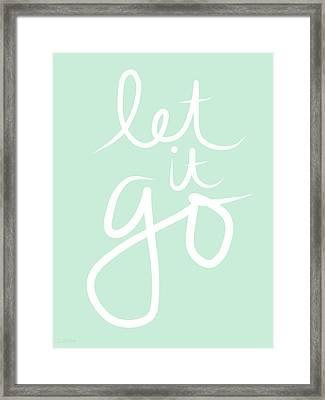 Let It Go Framed Print by Linda Woods