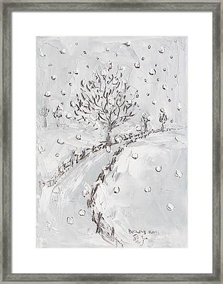 Let It Snow Framed Print by Becky Kim