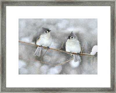 Let It Snow Framed Print by Lori Deiter