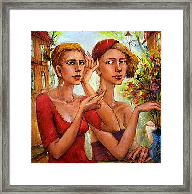 Let Love Flow Framed Print by Oleg  Poberezhnyi