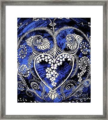 Let Love Rule The World. Framed Print by Anjali Vaidya