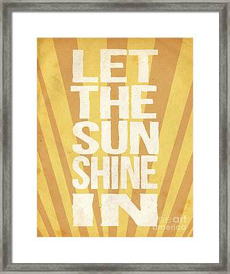 Let The Sunshine In Framed Print by Pati Photography