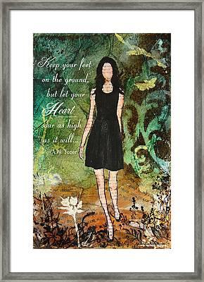 Let Your Heart Soar Framed Print by Janelle Nichol