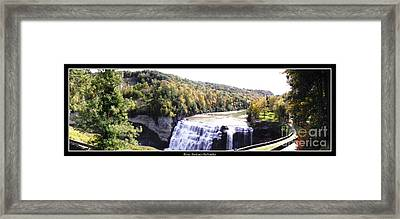 Letchworth State Park Middle Falls Panorama Framed Print by Rose Santuci-Sofranko