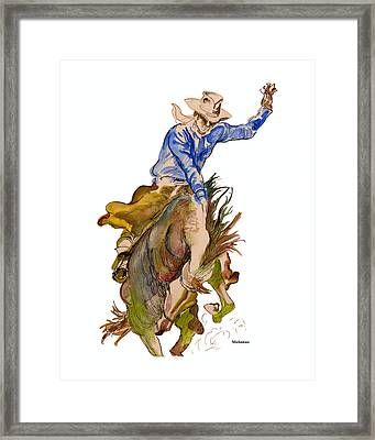 Let'er Buck Framed Print by Peter Melonas