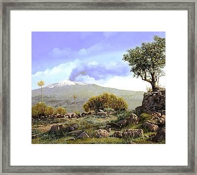l'Etna  Framed Print by Guido Borelli