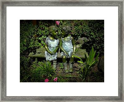Lets Be Friends Framed Print by Frank Wilson