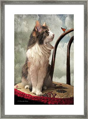 Let's Be Friends Framed Print by Karen Slagle