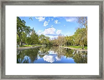 Let's Go Swimming Framed Print by Abram House