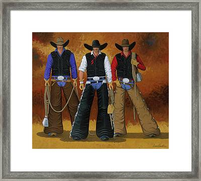 Let's Ride Framed Print by Lance Headlee