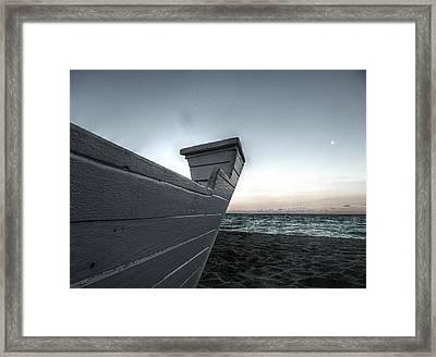 Let's Sail To The Moon Framed Print by Richard Reeve