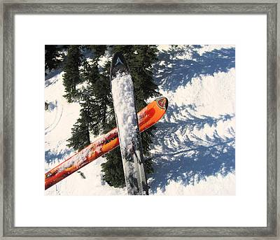 Lets Toast Our Skis Together Framed Print by Kym Backland