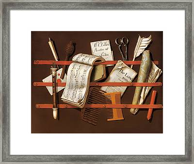 Letter Rack Framed Print by Mountain Dreams