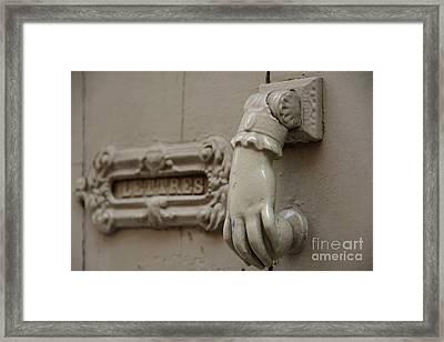 Letterbox Framed Print by Bernard Jaubert
