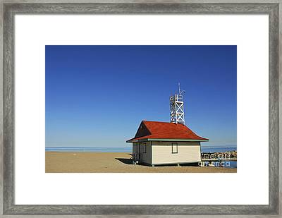 Leuty Lifeguard Station In Toronto Framed Print by Elena Elisseeva