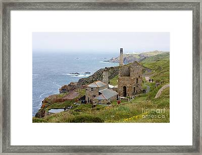 Levant Mine And Beam Engine Framed Print by Terri Waters