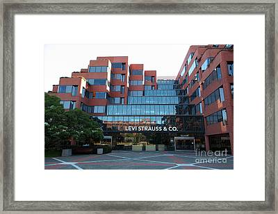 Levi Strauss And Company Plaza At The San Francisco Embarcadero 5d26202 Framed Print by Wingsdomain Art and Photography