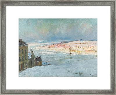 Levis From Quebec Framed Print by Maurice Cullen