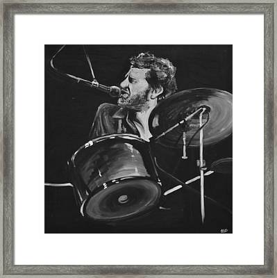 Levon Helm At Drums Framed Print by Melissa O'Brien