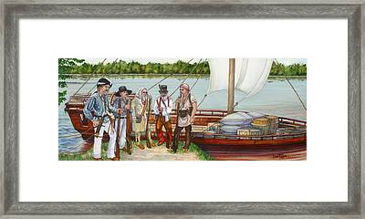 Lewis And Clark Framed Print by Beth Gramith