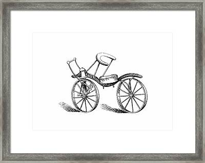 Lewis Gompertz's Bicycle Framed Print by Universal History Archive/uig