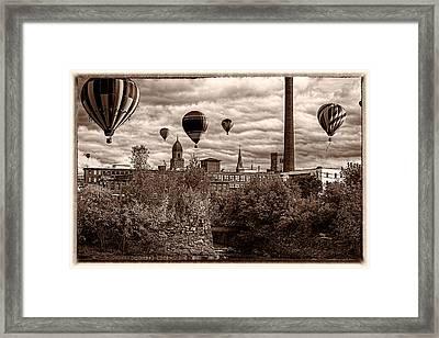 Lewiston Maine Hot Air Balloons Framed Print by Bob Orsillo