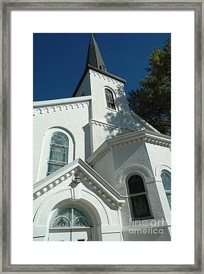 Lewistown First Presbyterian Church  Framed Print by Bob Fromm