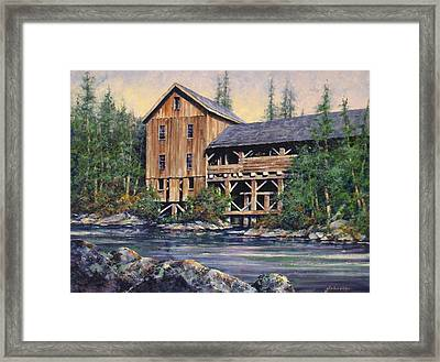 Lewisville Grist Mill Afternoon Framed Print by Jim Gola