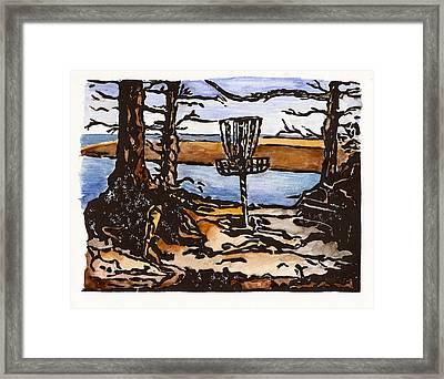 Lewisville Lake Hole Three Framed Print by Jason Reid