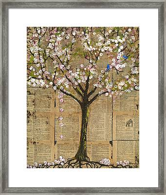 Lexicon Tree Of Life 3 Framed Print by Blenda Studio
