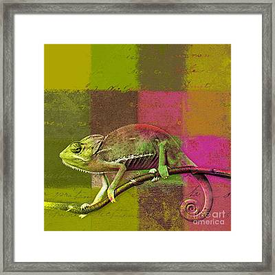 Lezardin - J131131149v5bgrp Framed Print by Variance Collections