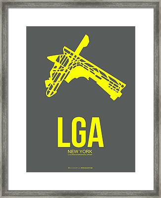 Lga New York Airport 1 Framed Print by Naxart Studio