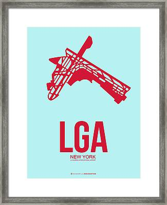 Lga New York Airport 2 Framed Print by Naxart Studio
