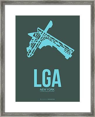 Lga New York Airport 3 Framed Print by Naxart Studio