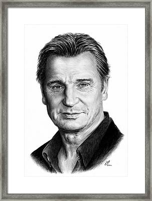 Liam Neeson Framed Print by Andrew Read
