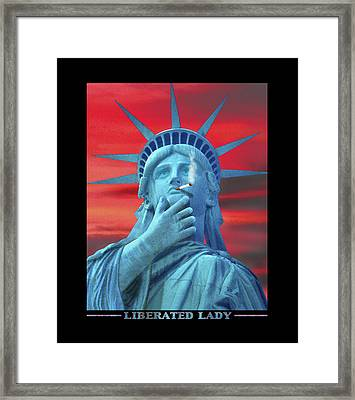 Liberated Lady Framed Print by Mike McGlothlen