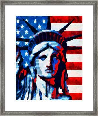 Liberty 2 Framed Print by Angelina Vick