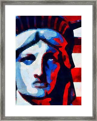 Liberty 3 Framed Print by Angelina Vick