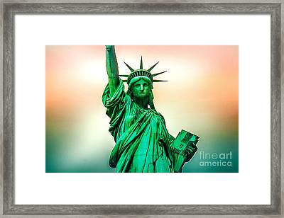 Liberty And Beyond Framed Print by Az Jackson