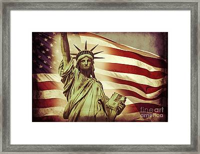 Liberty Framed Print by Az Jackson