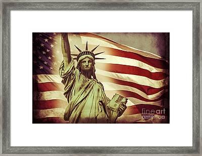 Liberty Framed Print by Az Jackson