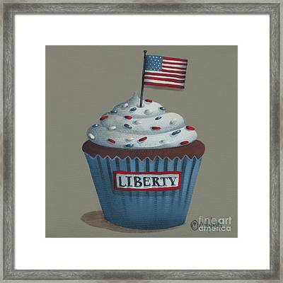 Liberty Cupcake Framed Print by Catherine Holman