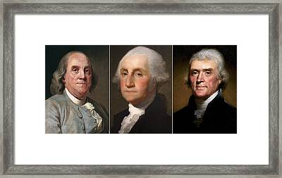 Liberty Honor And Truth Triptych Framed Print by Daniel Hagerman