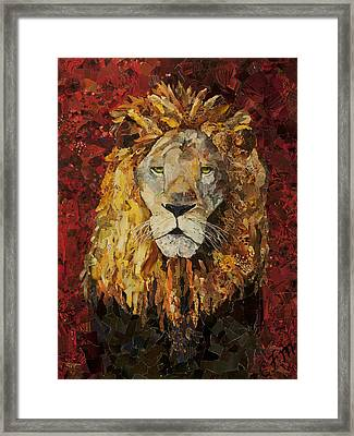 Liberty Lion Framed Print by Claire Muller
