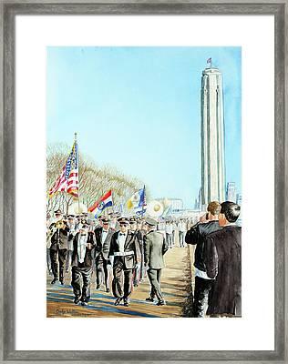 Liberty Memorial Kc Veterans Day 2001 Framed Print by Carolyn Coffey Wallace