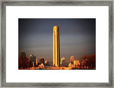 Liberty Memorial Framed Print by Warren Still